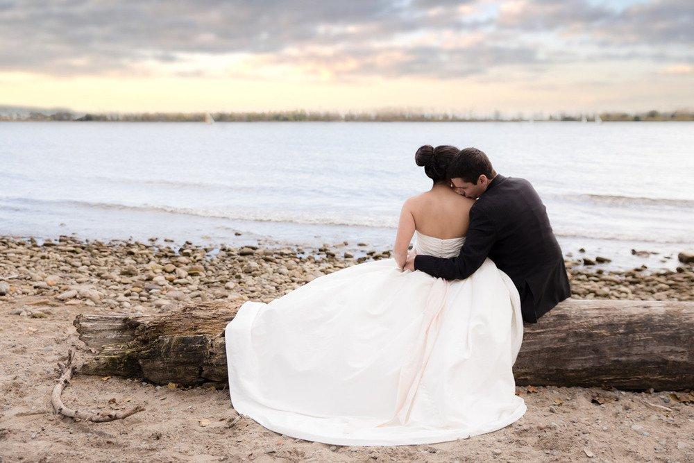 Luke & Tiffany Bridal Wedding Shoot at Cherry Beach Toronto Ontario Wedding Photographer