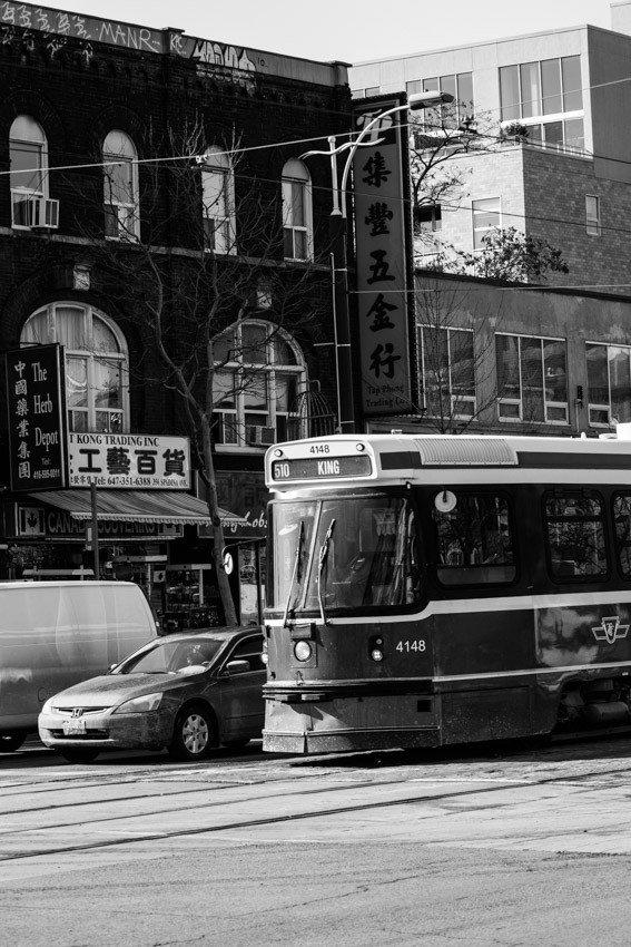 Toronto black and white china town