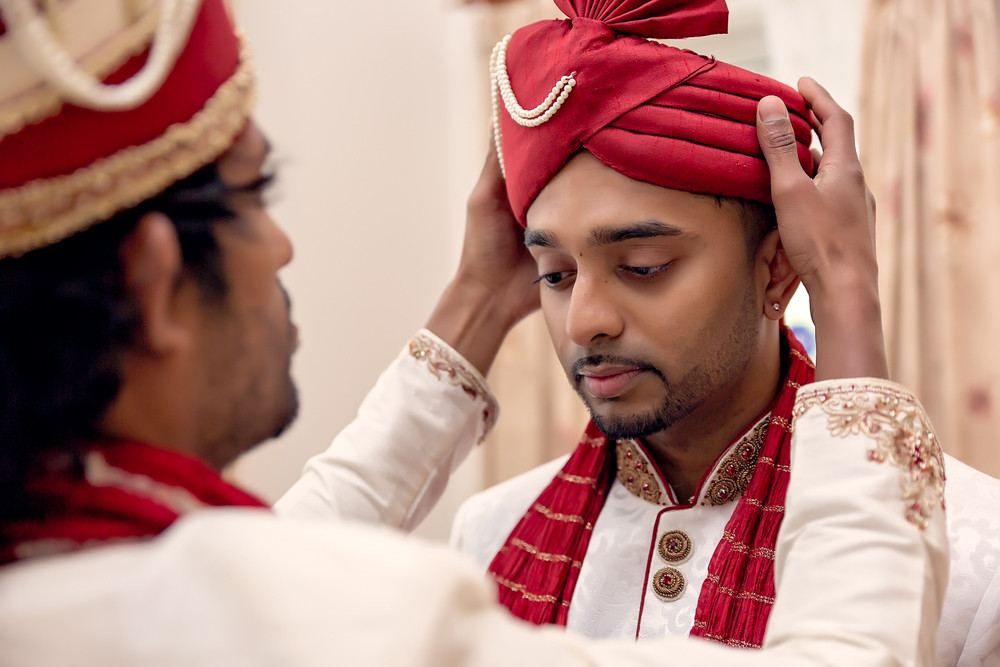 groom getting ready Sathya Sai Centre Scarborough toronto wedding photographer