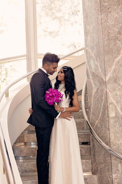 bride and groom Brighton Convention & Event Centre toronto wedding photographer
