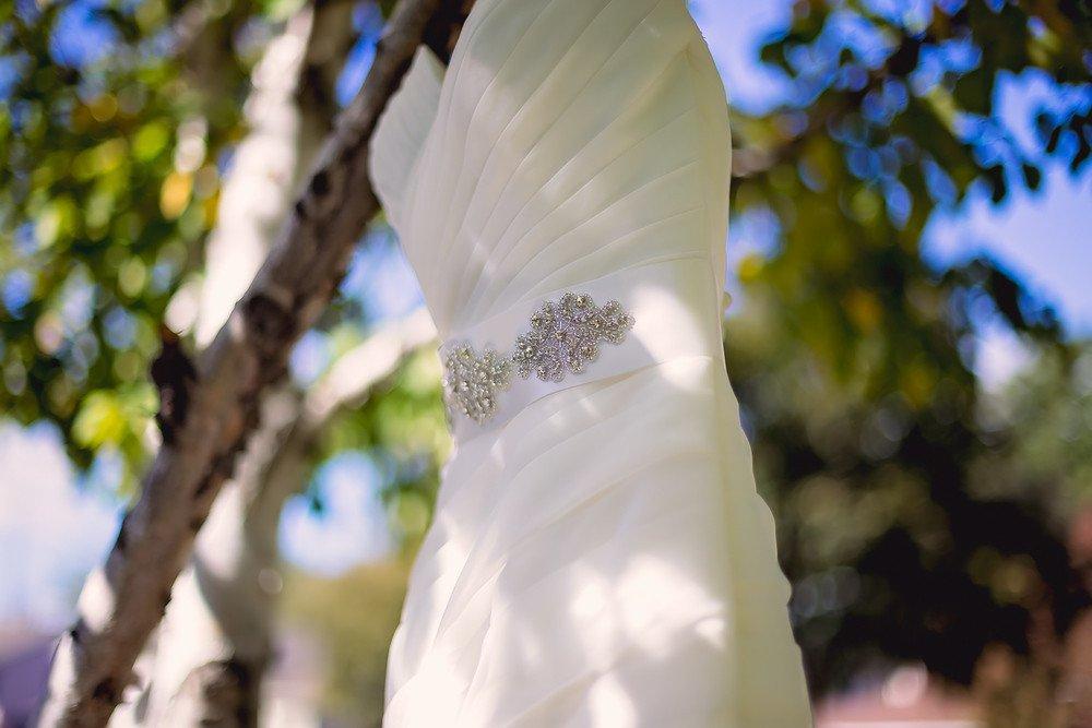 strapless wedding dress Walton Memorial United Church Oakville