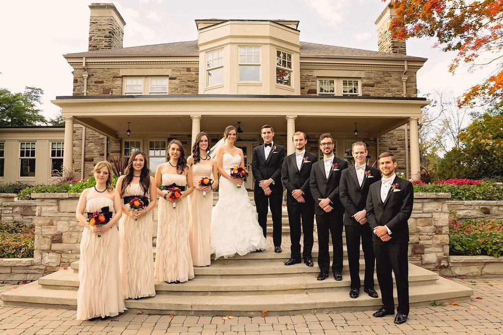 wedding party Paletta Mansion Burlington