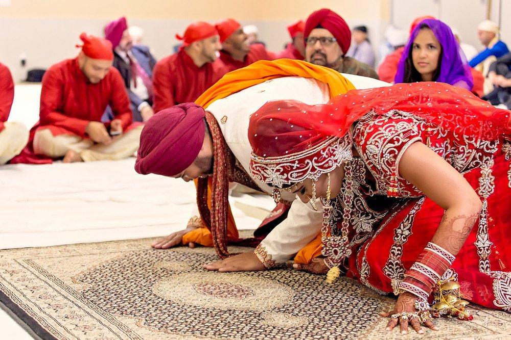 wedding ceremony Gursikh Sabha Scarborough toronto wedding photographer