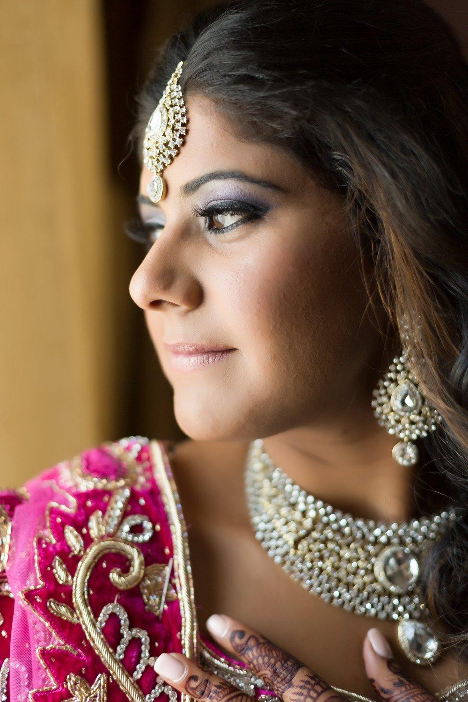 portrait of bride Markham Convention Centre toronto wedding photographer