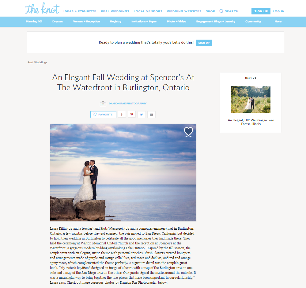 Damion Rae Featured on The Knot Real Weddings Blog