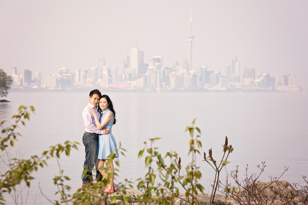 Elaine & Boon-Hau: Colonel Samuel Smith Park Toronto Ontario Engagement