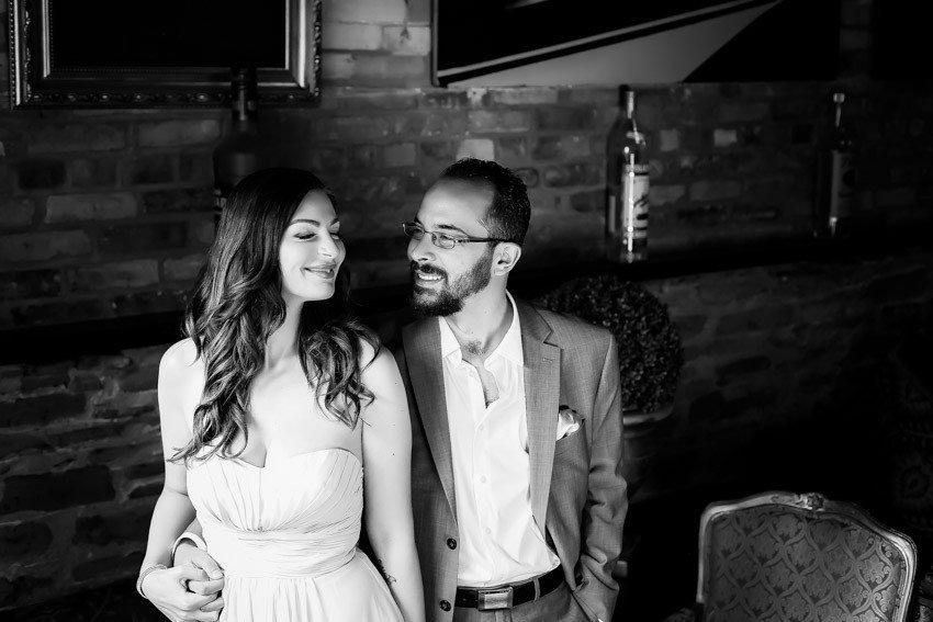 Pravda Vodka House Toronto Engagement Toronto Engagement shoot Black and White