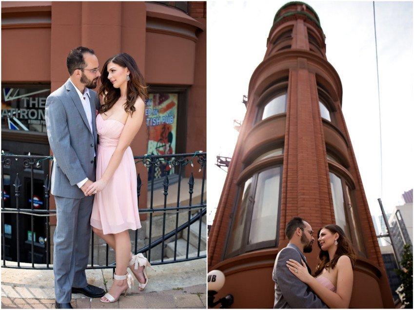 Gooderham Building Toronto Engagement Toronto Engagement shoot