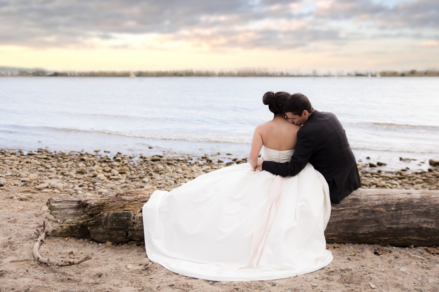 Luke & Tiffany Cherry Beach Cherry Sunset Toronto Bridal Shoot Photographer