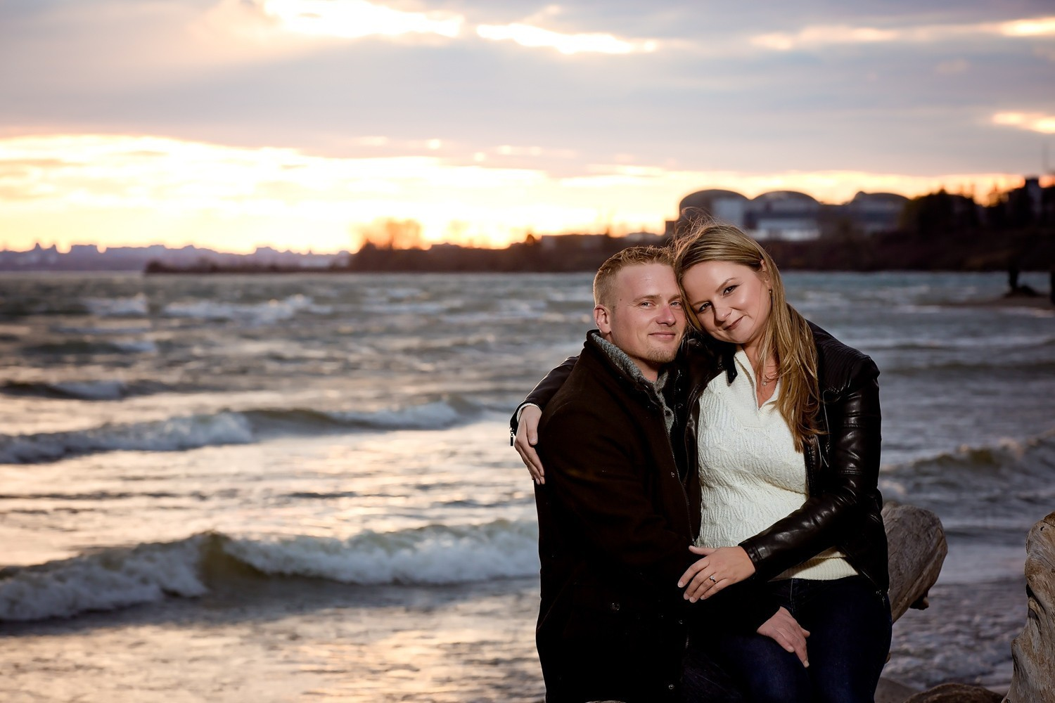 Ajax Ontario Vanessa Randy Rotary Park engagement photos toronto wedding photographer